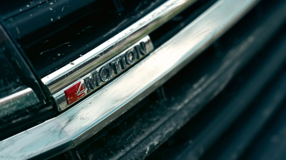 4MOTION Logo am Heck des VW California 6.1