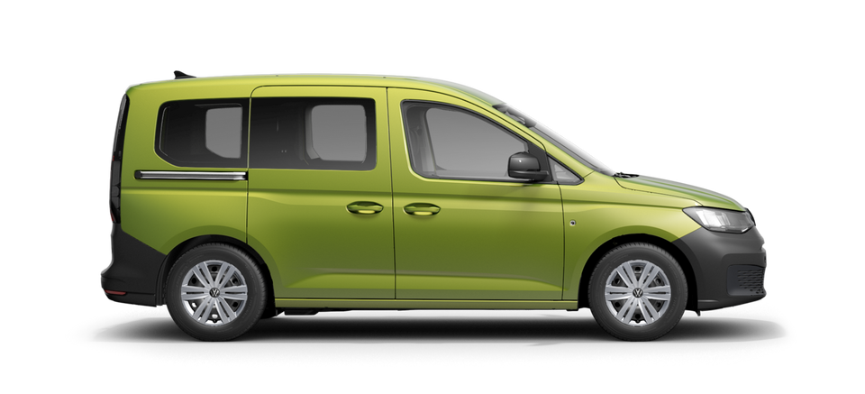 Ein VW Caddy in der Farbe Golden Green Metallic
