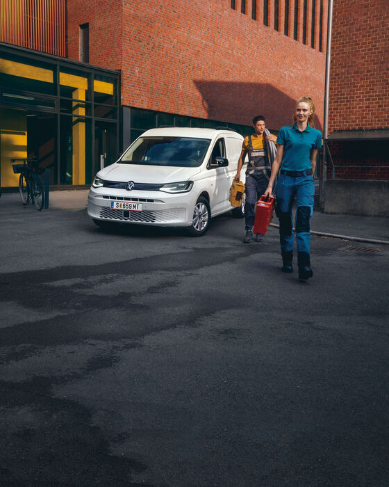 VW e-Crafter Kastenwagen in blau